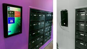 Les premiers écrans OECKO ont été installé par Logis Metropole à Humanicité